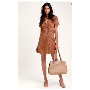 Lulu's - Brown Shirt Dress